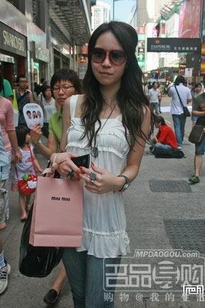 街拍香港美女清凉装扮