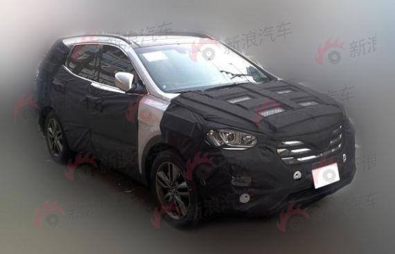 现代ix45实拍曝光 北京现代新款suv车型 高清图片