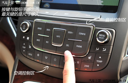 荣威汽车中控台按钮图解