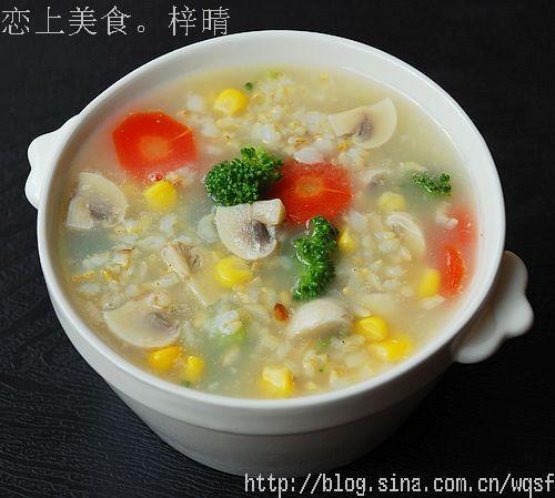 糙米蔬菜粥的做法(美肤刮油超级减肥菜谱)