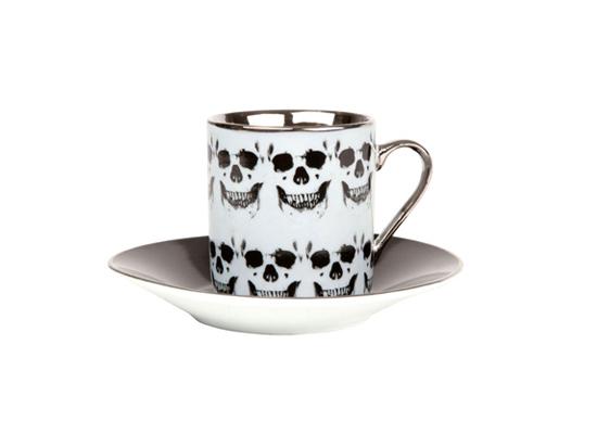 骷髅头咖啡杯