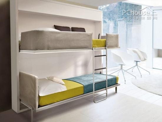 设计重点:高低床的收折设计