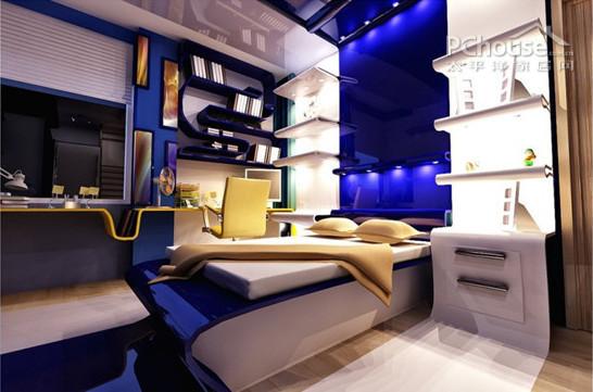 蓝色欧式床头柜