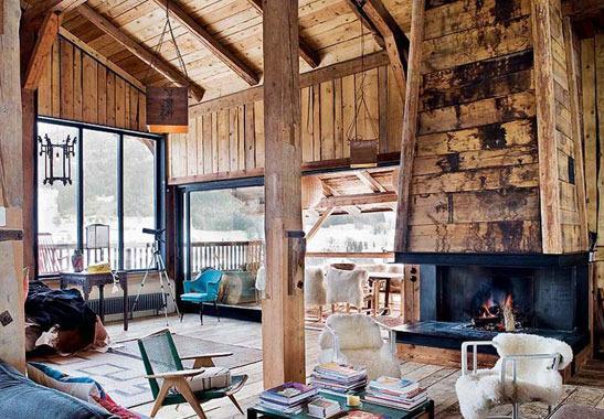 木结构房屋内的间隔可以根据屋主的喜好