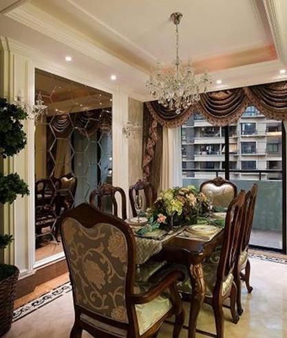 三居室 168㎡ 客厅装修效果图 欧美风情 168平米三居室