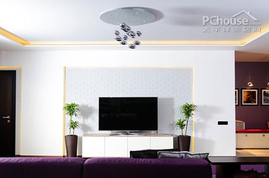 客厅电视墙装修设计 20个转身可见的美丽风景   个性电视