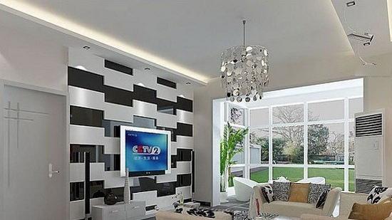 欧式客厅电视背景墙 时尚又靓丽