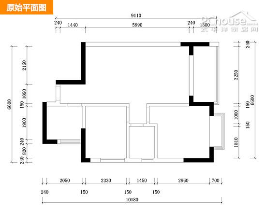 平面设计图:       1, 开放式厨房与玄关以地面材质来区分两个不同的