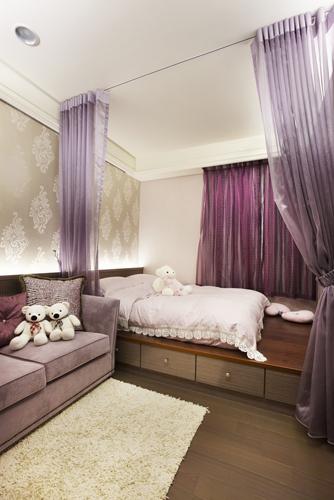 卧室装修床头纱
