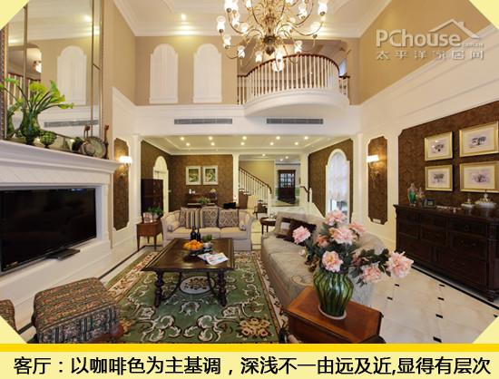 客厅挑空欧式家装电视墙