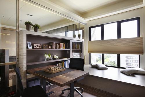 欧式通透书房设计