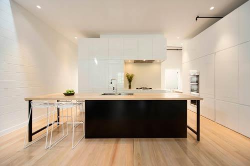 厨房木板装修墙面图片