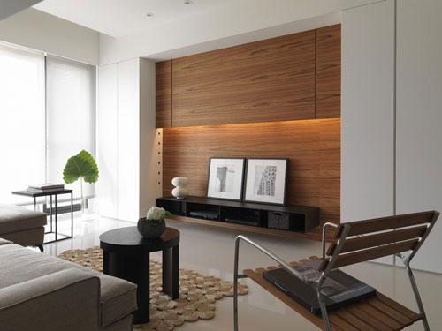 设计重点:   客厅机柜   设计理念   高阶音响收纳在两旁的