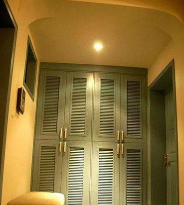 入户门厅吊顶设计图-地带 8款私密玄关设计案例