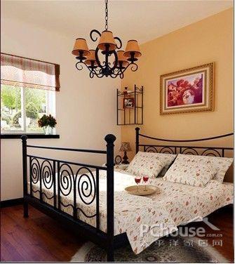 卧室装修效果图; 落霞苑-一居室-57㎡-卧室装修效果