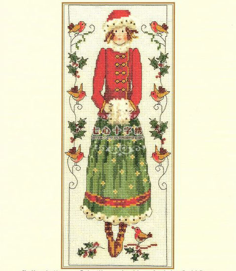 乡村女孩十字绣 为客厅增添甜美气质