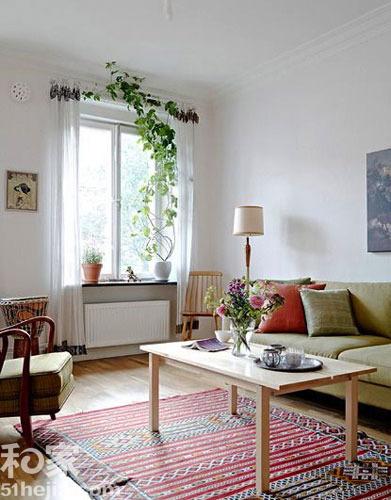 白色系58平一室一厅装修效果图