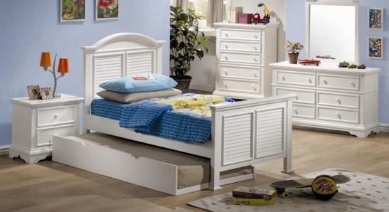 床下的可活动床垫的设计为房间增添了更多的活力.