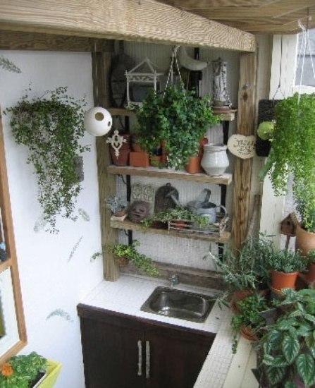 实拍阳台diy全过程 绿色花园设计