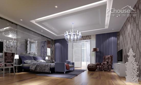 包含7张高清室内设计效果图 客厅 餐厅 卧室 书房