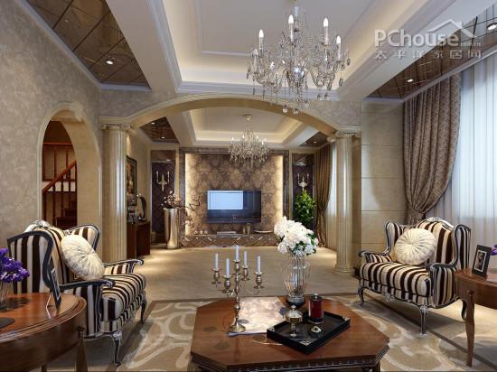 融合中外设计风格 15款大户型室内设计