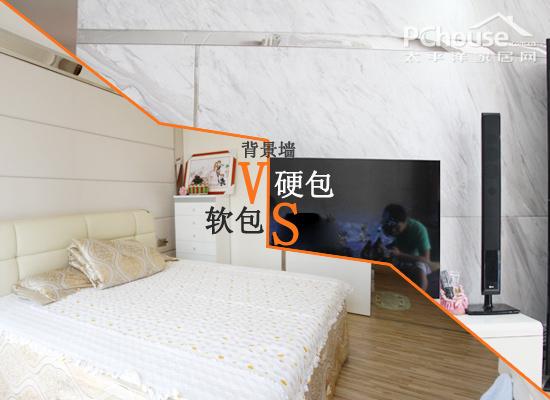 硬包背景墙:直接把基层的的木工板或高密度