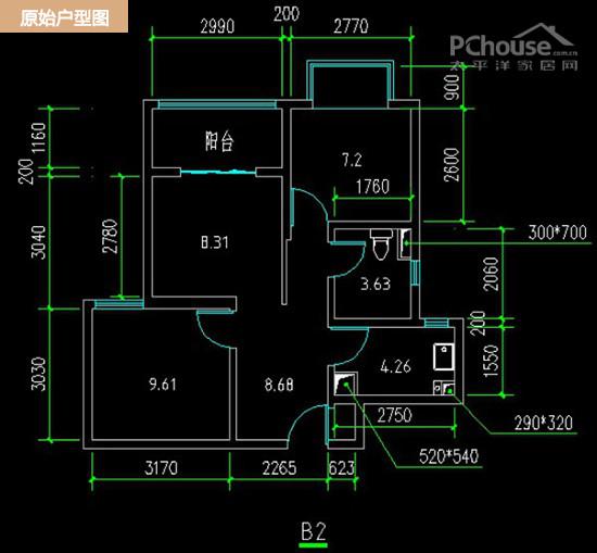 房子建筑面積75平米,實用面積54平米