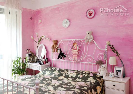 女生粉色卧室布置