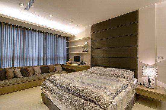 卧室欧式风格透视图