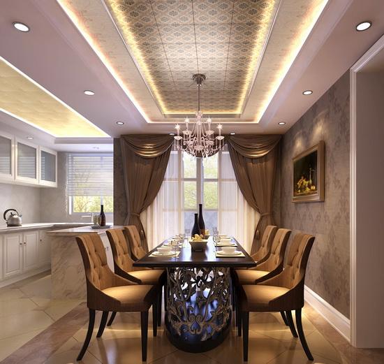 吊顶搭配tips:美式风格设计家居观赏性和收藏性非常有价值.图片