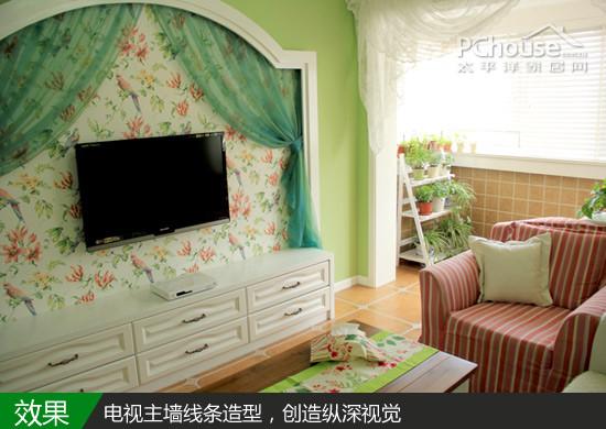 小夫妻装70平房子装修效果图清新婚房案例 3