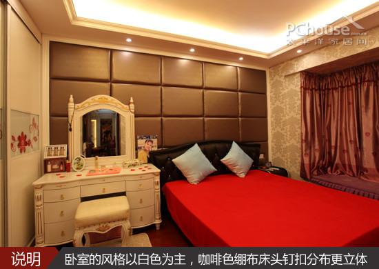 卧室的欧式风格一改客厅的浓重色彩