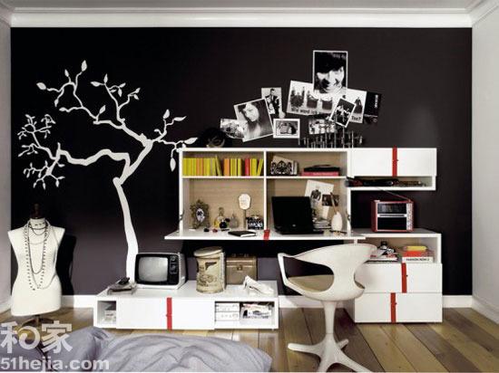 12个手绘背景墙 创意墙面居室美学