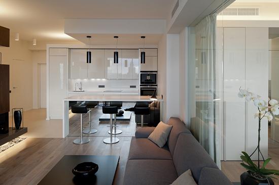 loft简约设计 单身公寓巧借空间