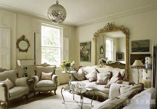 欧式最新客厅装修效果图;;; 美汇美装饰蔚蓝之都现代简约...