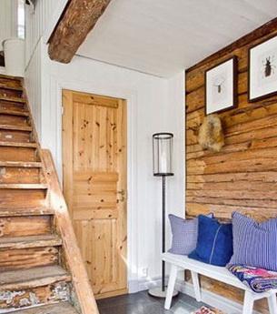 小户型复式楼 用原木打造自然风情图片