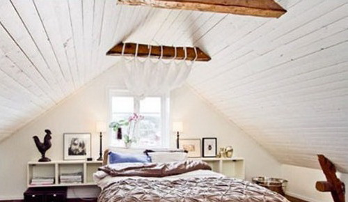 原木斜房顶设计效果图