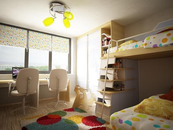 儿童房上下床设计 给孩子不一样童年